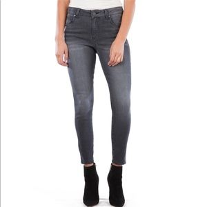 KUT Donna High Waist Ankle Skinny Jeans Gray - 8P